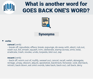 goes back one's word, synonym goes back one's word, another word for goes back one's word, words like goes back one's word, thesaurus goes back one's word
