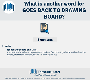 goes back to drawing board, synonym goes back to drawing board, another word for goes back to drawing board, words like goes back to drawing board, thesaurus goes back to drawing board
