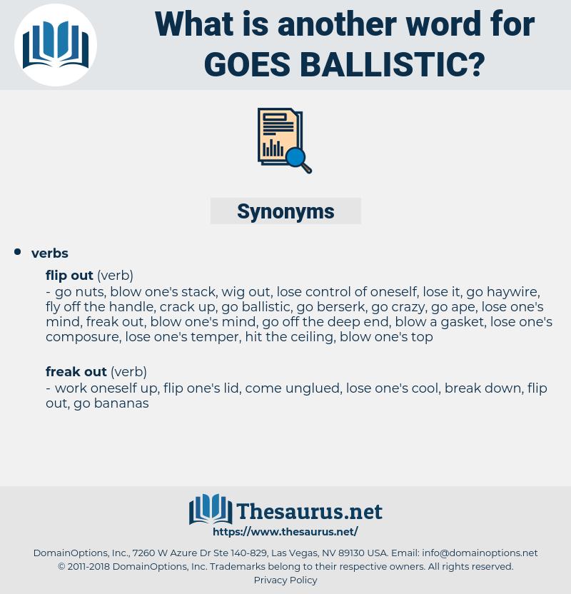 goes ballistic, synonym goes ballistic, another word for goes ballistic, words like goes ballistic, thesaurus goes ballistic