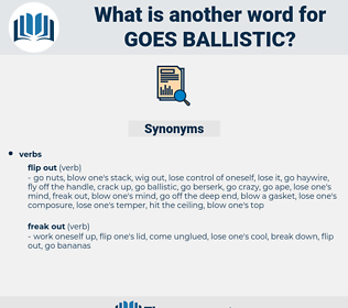 goes ballistic, synonym goes ballistic, another word for goes ballistic, words like goes ballistic, thesaurus goes ballistic