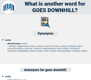 goes downhill, synonym goes downhill, another word for goes downhill, words like goes downhill, thesaurus goes downhill