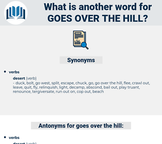 goes over the hill, synonym goes over the hill, another word for goes over the hill, words like goes over the hill, thesaurus goes over the hill