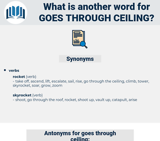 goes through ceiling, synonym goes through ceiling, another word for goes through ceiling, words like goes through ceiling, thesaurus goes through ceiling