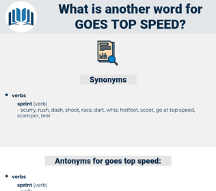 goes top speed, synonym goes top speed, another word for goes top speed, words like goes top speed, thesaurus goes top speed
