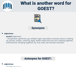 GOEST, synonym GOEST, another word for GOEST, words like GOEST, thesaurus GOEST