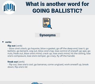 going ballistic, synonym going ballistic, another word for going ballistic, words like going ballistic, thesaurus going ballistic