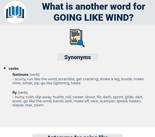going like wind, synonym going like wind, another word for going like wind, words like going like wind, thesaurus going like wind