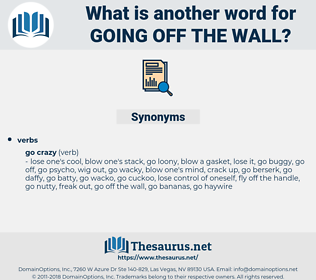 going off the wall, synonym going off the wall, another word for going off the wall, words like going off the wall, thesaurus going off the wall