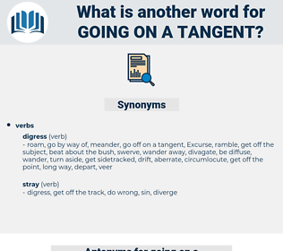 going on a tangent, synonym going on a tangent, another word for going on a tangent, words like going on a tangent, thesaurus going on a tangent