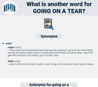 going on a tear, synonym going on a tear, another word for going on a tear, words like going on a tear, thesaurus going on a tear