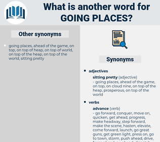 going places, synonym going places, another word for going places, words like going places, thesaurus going places