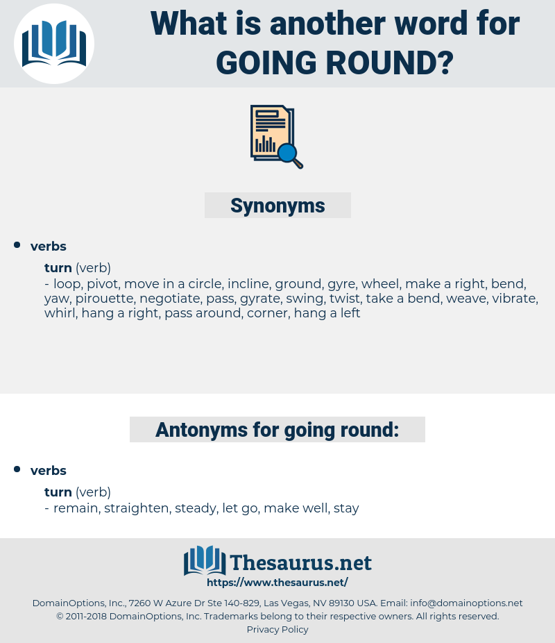 going round, synonym going round, another word for going round, words like going round, thesaurus going round