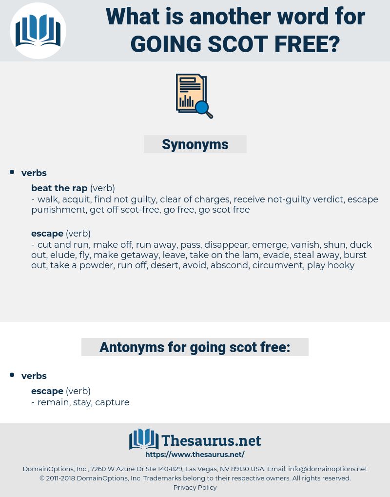 going scot-free, synonym going scot-free, another word for going scot-free, words like going scot-free, thesaurus going scot-free