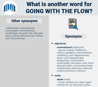 going with the flow, synonym going with the flow, another word for going with the flow, words like going with the flow, thesaurus going with the flow