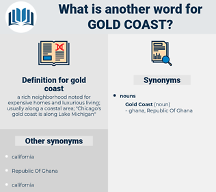 gold coast, synonym gold coast, another word for gold coast, words like gold coast, thesaurus gold coast