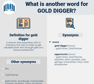 gold digger, synonym gold digger, another word for gold digger, words like gold digger, thesaurus gold digger