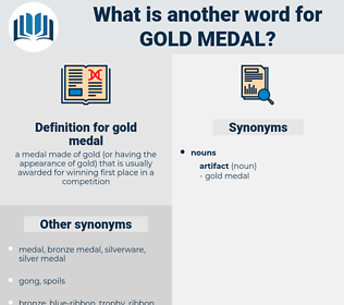 gold medal, synonym gold medal, another word for gold medal, words like gold medal, thesaurus gold medal