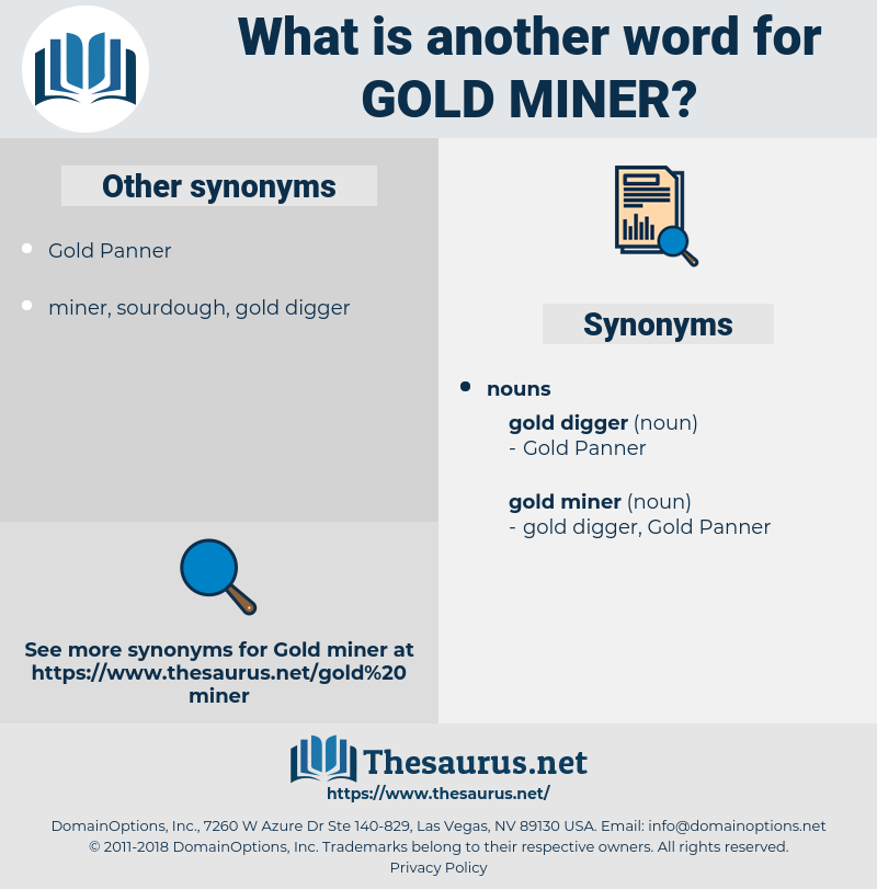 gold miner, synonym gold miner, another word for gold miner, words like gold miner, thesaurus gold miner