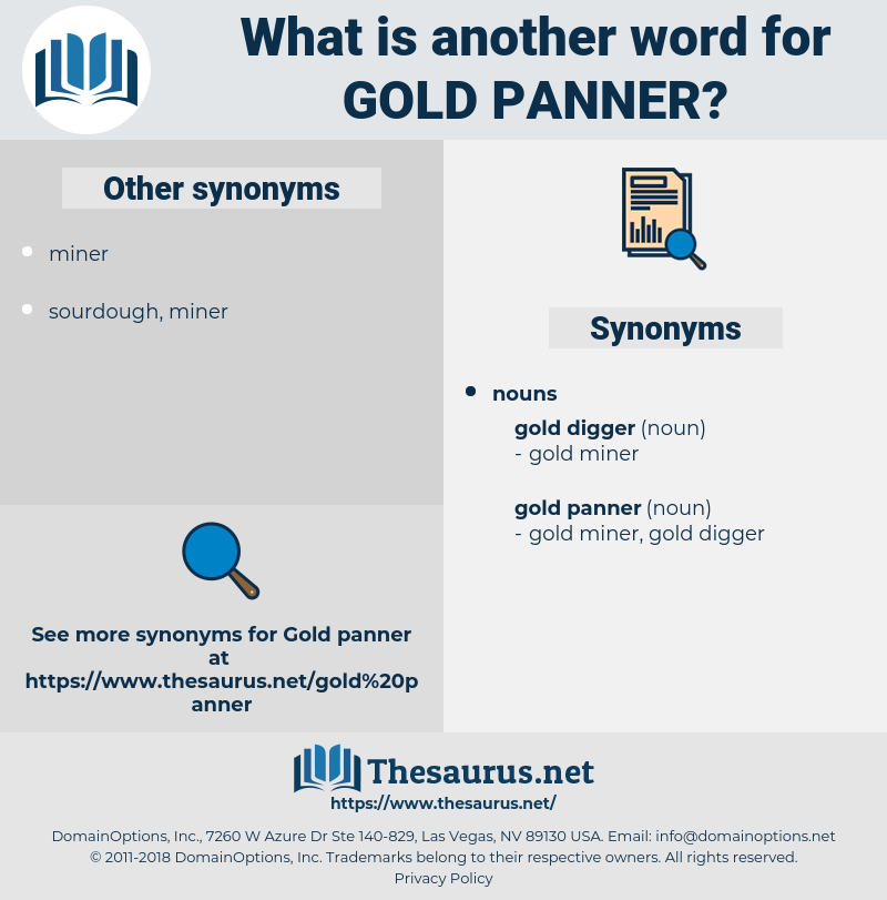 Gold Panner, synonym Gold Panner, another word for Gold Panner, words like Gold Panner, thesaurus Gold Panner