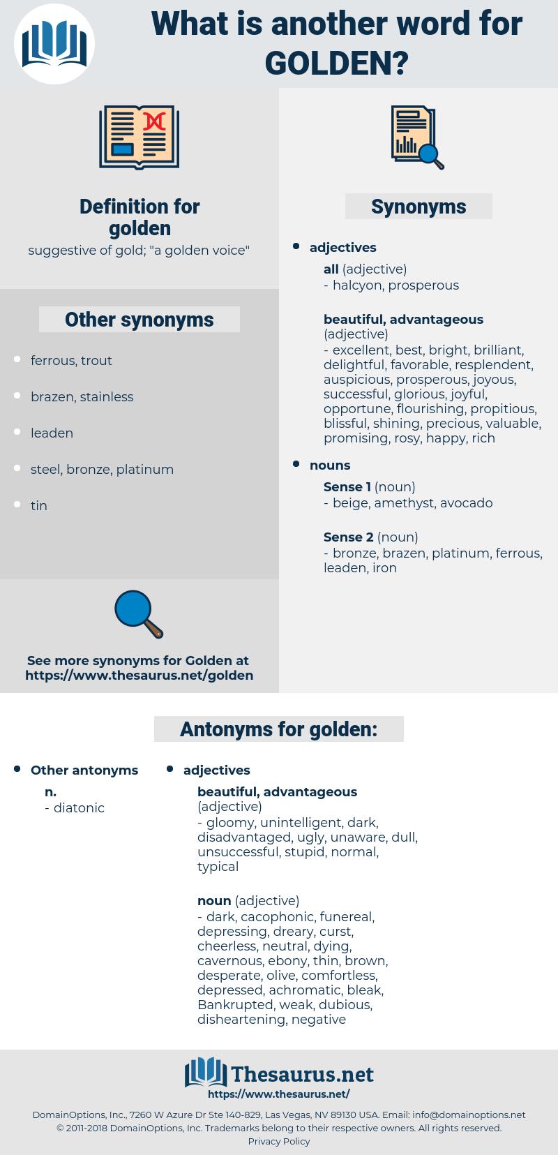 golden, synonym golden, another word for golden, words like golden, thesaurus golden