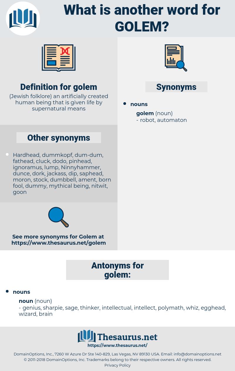 golem, synonym golem, another word for golem, words like golem, thesaurus golem