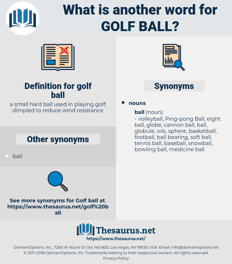 golf ball, synonym golf ball, another word for golf ball, words like golf ball, thesaurus golf ball