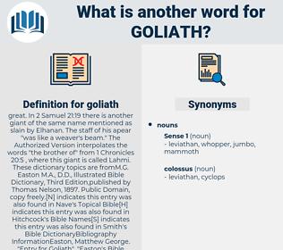goliath, synonym goliath, another word for goliath, words like goliath, thesaurus goliath