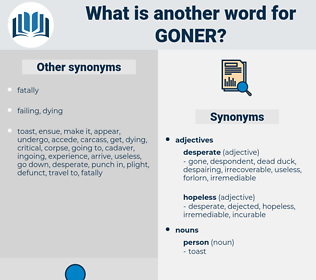 goner, synonym goner, another word for goner, words like goner, thesaurus goner