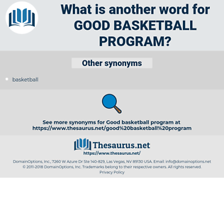 good basketball program, synonym good basketball program, another word for good basketball program, words like good basketball program, thesaurus good basketball program