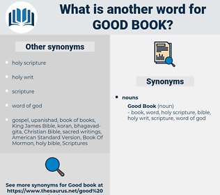 good book, synonym good book, another word for good book, words like good book, thesaurus good book