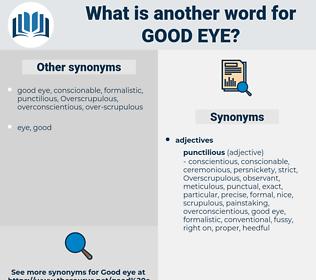 good eye, synonym good eye, another word for good eye, words like good eye, thesaurus good eye