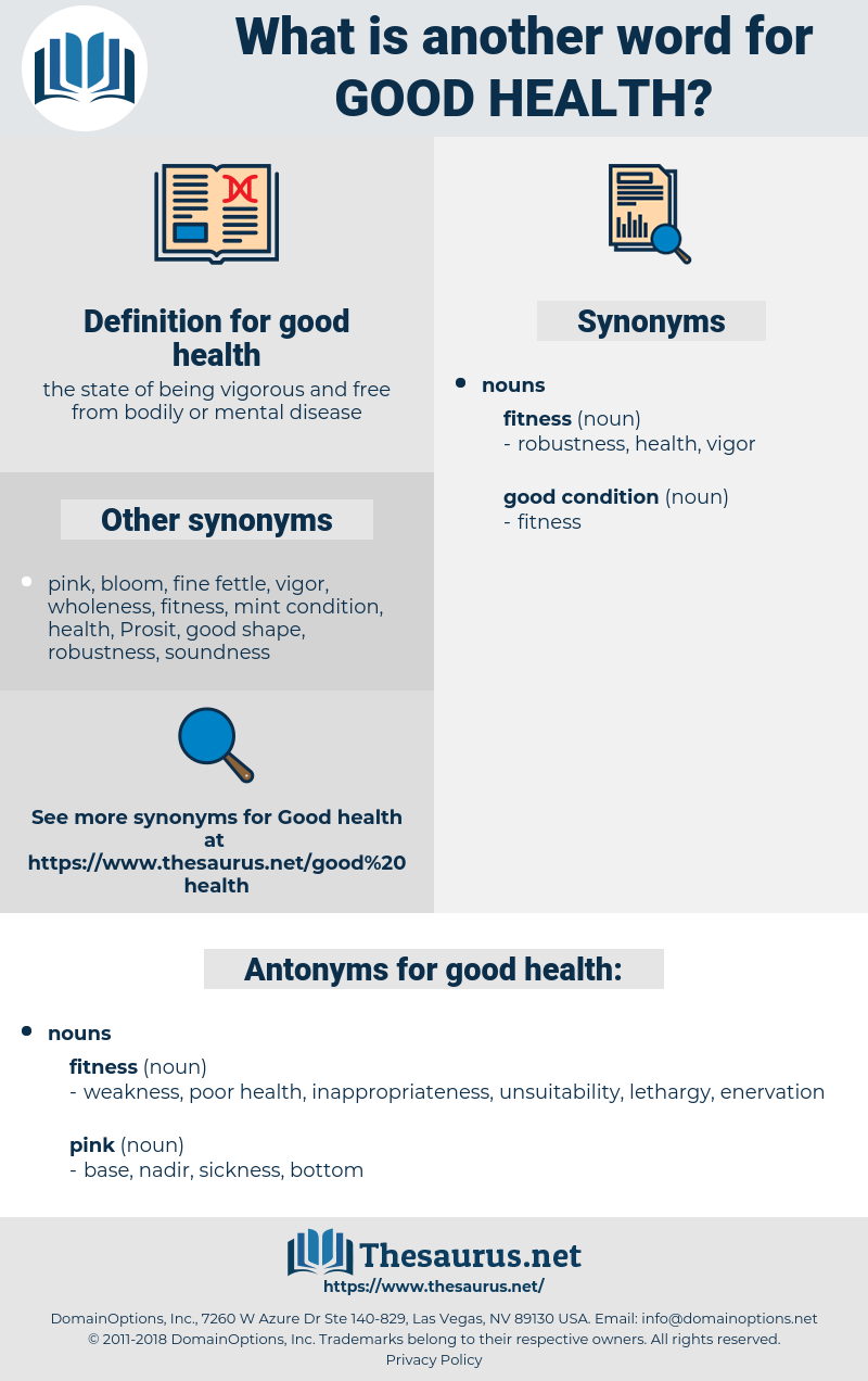 good health, synonym good health, another word for good health, words like good health, thesaurus good health