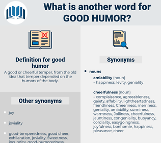 good humor, synonym good humor, another word for good humor, words like good humor, thesaurus good humor