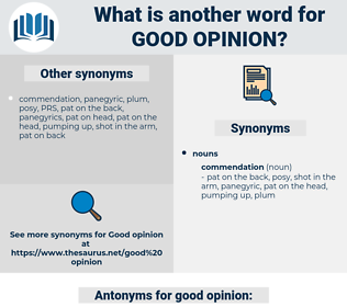 good opinion, synonym good opinion, another word for good opinion, words like good opinion, thesaurus good opinion