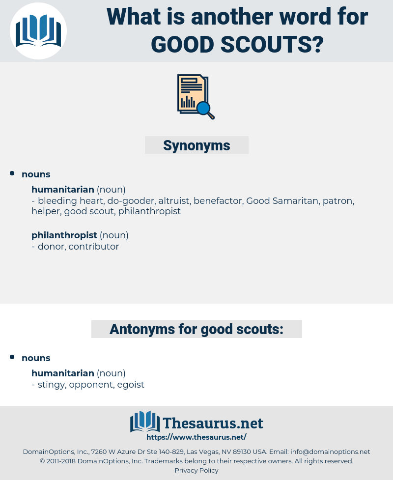 good scouts, synonym good scouts, another word for good scouts, words like good scouts, thesaurus good scouts