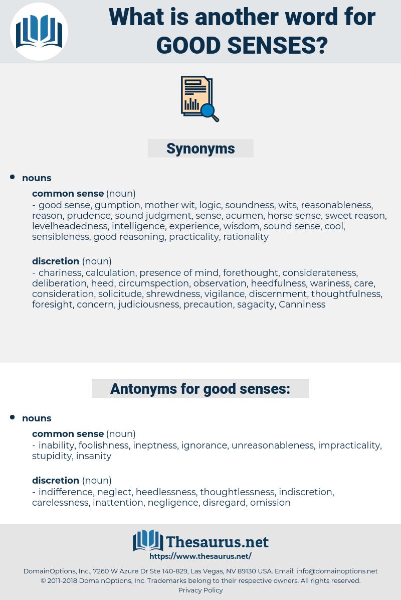 good senses, synonym good senses, another word for good senses, words like good senses, thesaurus good senses