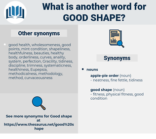 good shape, synonym good shape, another word for good shape, words like good shape, thesaurus good shape