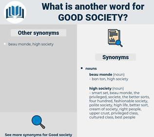 good society, synonym good society, another word for good society, words like good society, thesaurus good society