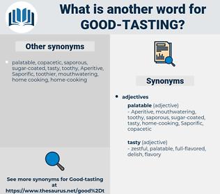 good-tasting, synonym good-tasting, another word for good-tasting, words like good-tasting, thesaurus good-tasting
