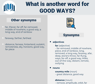 good ways, synonym good ways, another word for good ways, words like good ways, thesaurus good ways