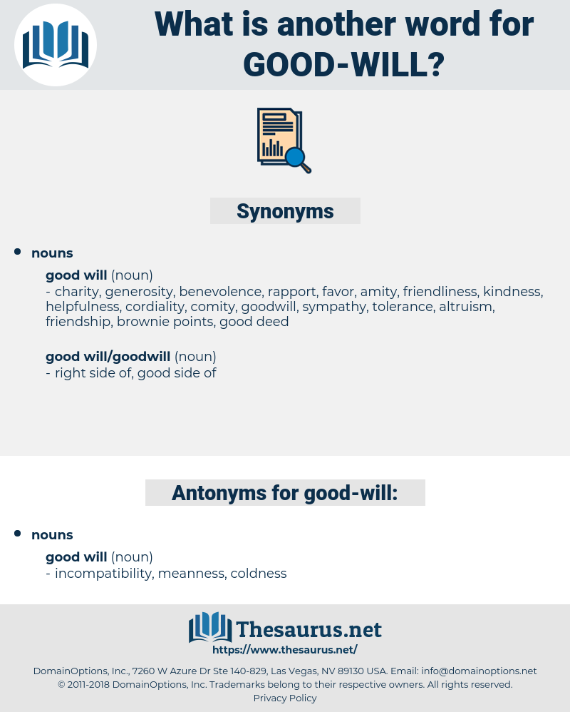 good will, synonym good will, another word for good will, words like good will, thesaurus good will