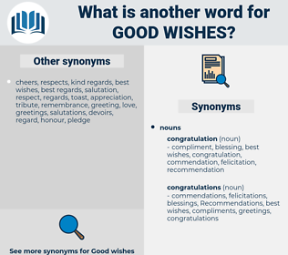 good wishes, synonym good wishes, another word for good wishes, words like good wishes, thesaurus good wishes