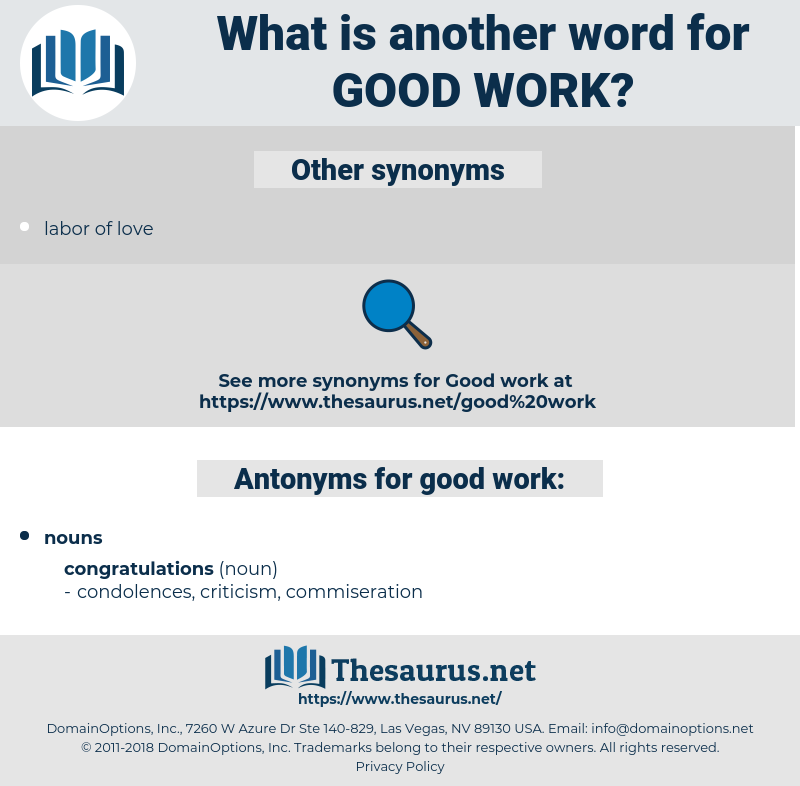 good work, synonym good work, another word for good work, words like good work, thesaurus good work