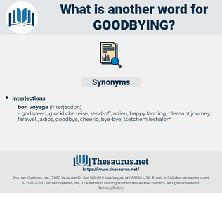 goodbying, synonym goodbying, another word for goodbying, words like goodbying, thesaurus goodbying