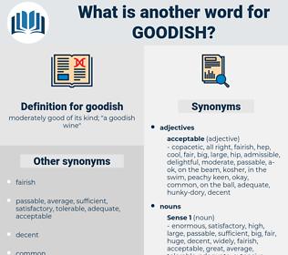 goodish, synonym goodish, another word for goodish, words like goodish, thesaurus goodish