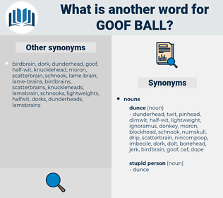 goof ball, synonym goof ball, another word for goof ball, words like goof ball, thesaurus goof ball