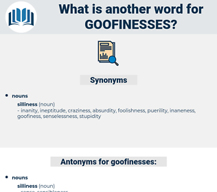 goofinesses, synonym goofinesses, another word for goofinesses, words like goofinesses, thesaurus goofinesses