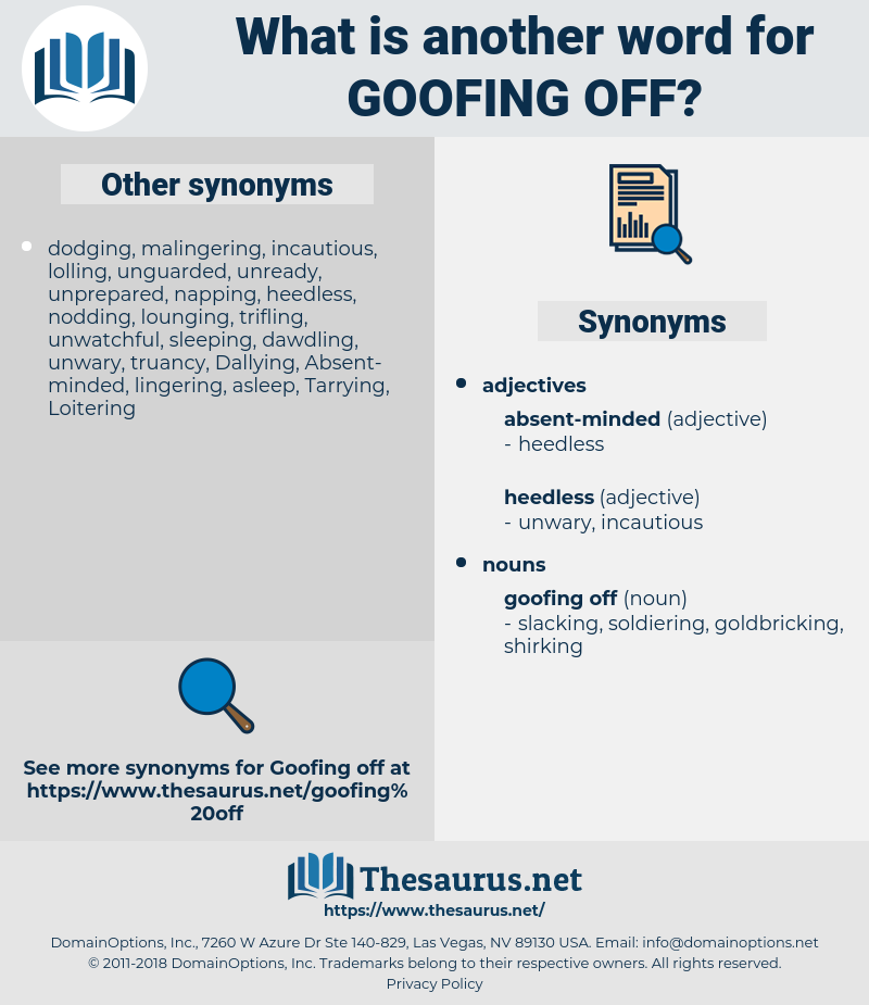 goofing off, synonym goofing off, another word for goofing off, words like goofing off, thesaurus goofing off