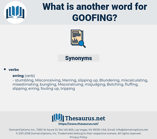 goofing, synonym goofing, another word for goofing, words like goofing, thesaurus goofing