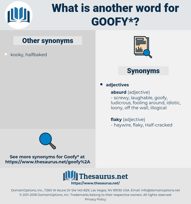 goofy, synonym goofy, another word for goofy, words like goofy, thesaurus goofy